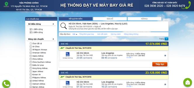 Đặt vé máy bay đi Mỹ online 3